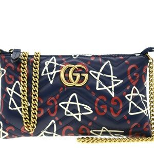 Gucci GG Marmont Ghost Crossbody Chain Bag
